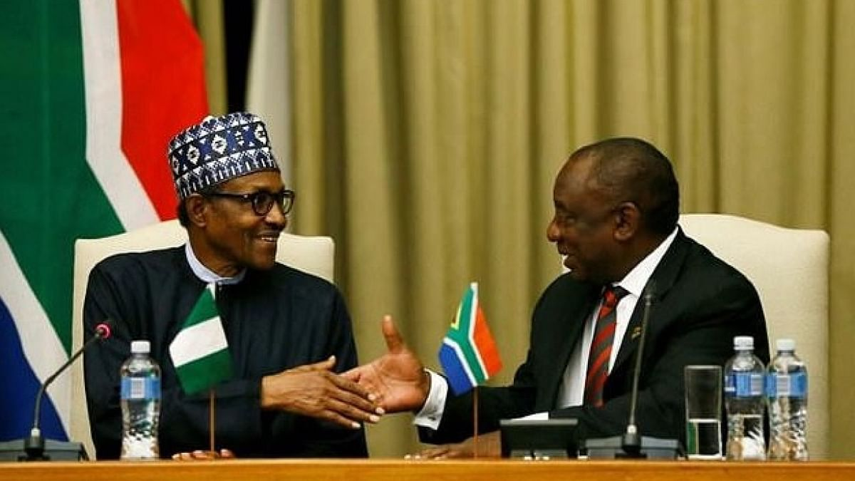 Presidents Buhari and Ramaphosa