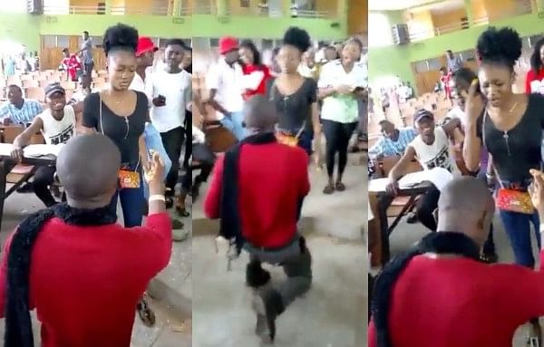Benue State University Student Slaps Boyfriend For Proposing To Her In A Lecture Hall