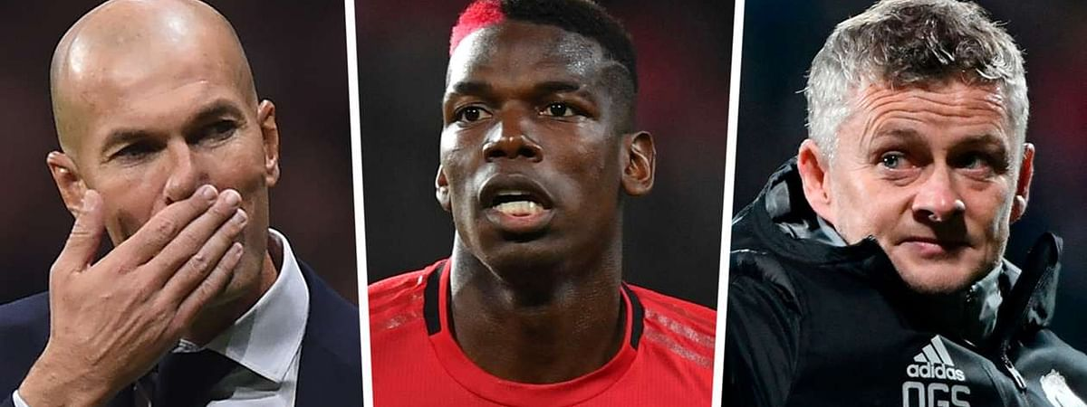 """""""I Don't Have A Problem With That"""" - Solskjaer Says As Pogba Is Pictured With Real Madrid Boss Zidane"""