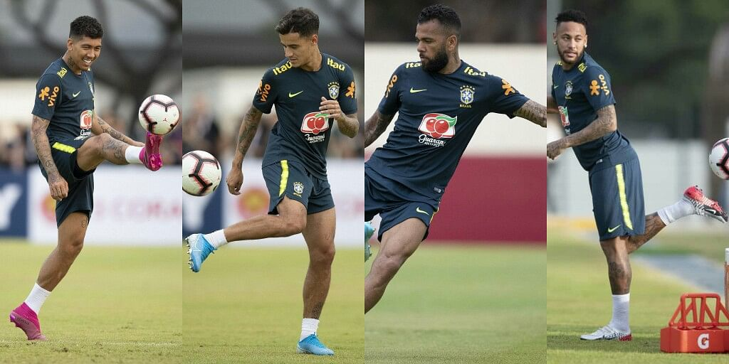 Neymar, Coutinho, Firminho And Brazil Teammates Train Ahead Of Super Eagles Friendly