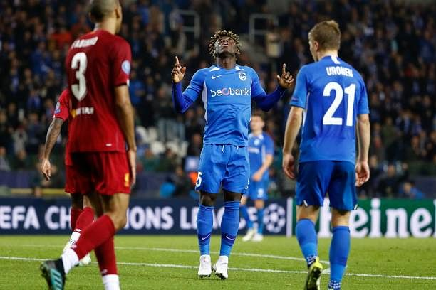 Nigerian Striker, Stephen Odey Scores On Champions League Debut Against Liverpool