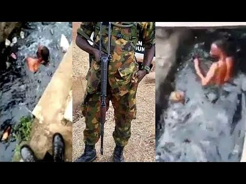 Soldiers Humiliate Man Who Allegedly Stole Designer Shoe Worth N20K And Sold For 2K