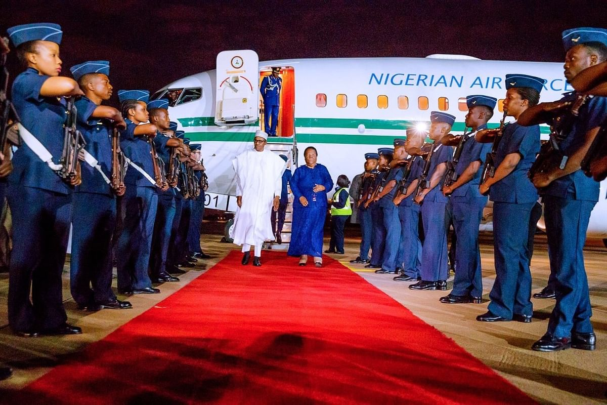 President Buhari Arrives South Africa