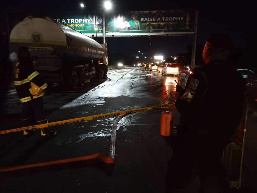 Three Injured In Accident Involving Fuel Tanker And Cars
