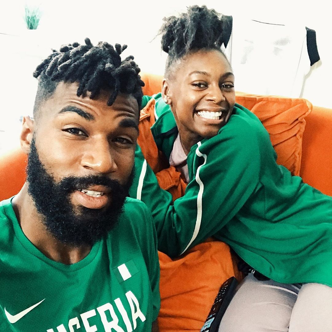 BBNaija: Mike's Wife Storms Lagos To Show Support