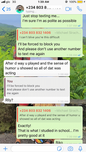Twitter User Shares Screenshots Of Texts Bolt Driver Sends Her After A Ride