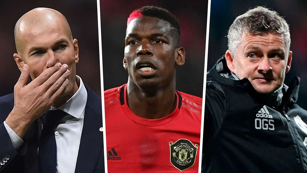 Solskjaer Reacts As Pogba Is Pictured With  Madrid Boss  Zidane