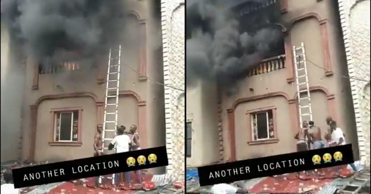 Another Fire Outbreak In A Building In Dosunmu, Lagos Island