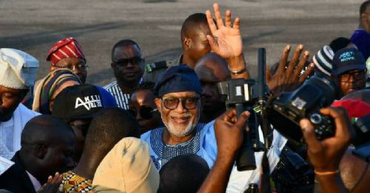 Akeredolu Returns To Ondo After 52 Days, Resumes Office Today