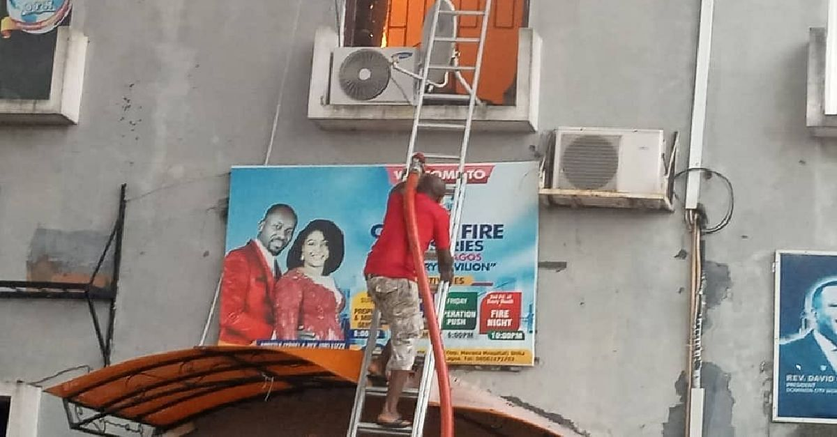 Fire Guts Surulere Super Plaza