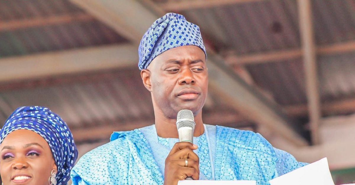 Governor Makinde and wife