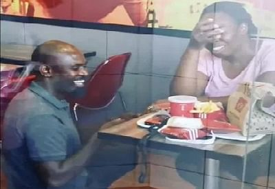 South African man proposing to his girlfriend