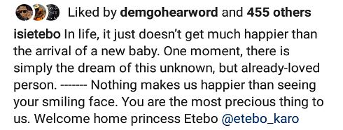 Super Eagles Star, Etebo, And Wife Welcome Daughter