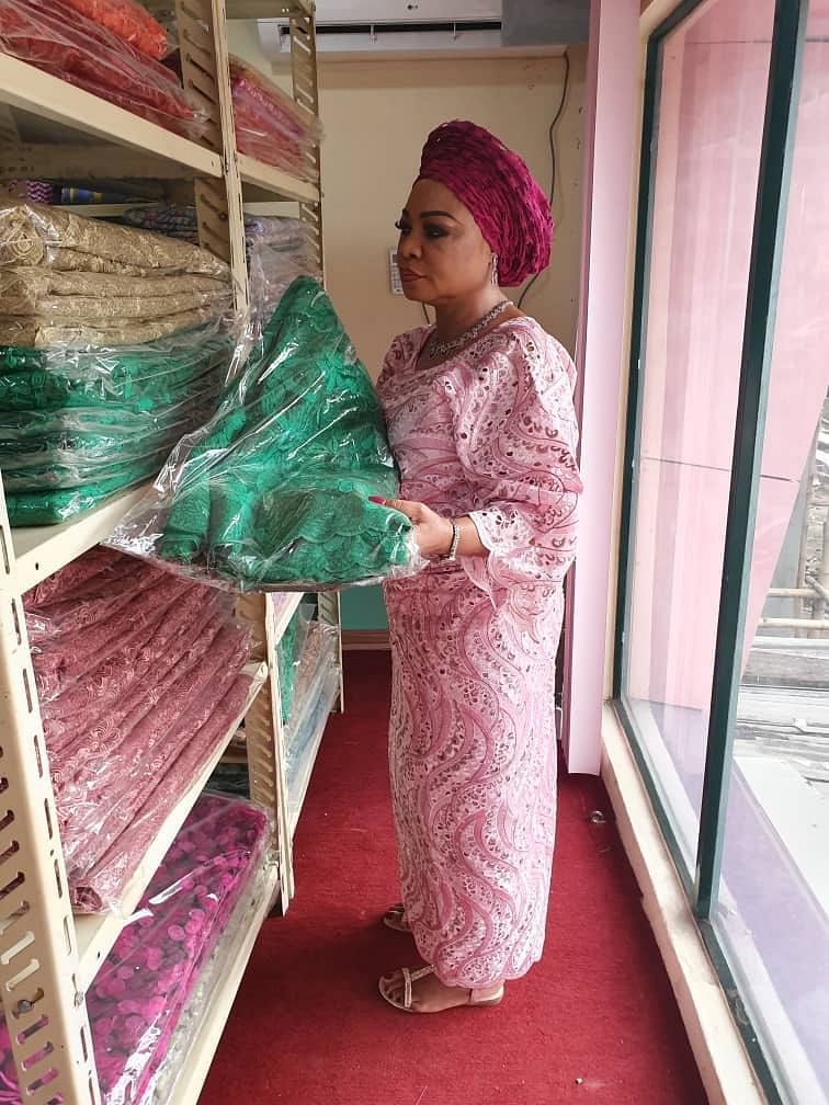 Adiukwu at her Lagos outlet
