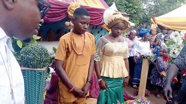 17-Year-Old Boy Marries His 16-Year-Old Fiancee