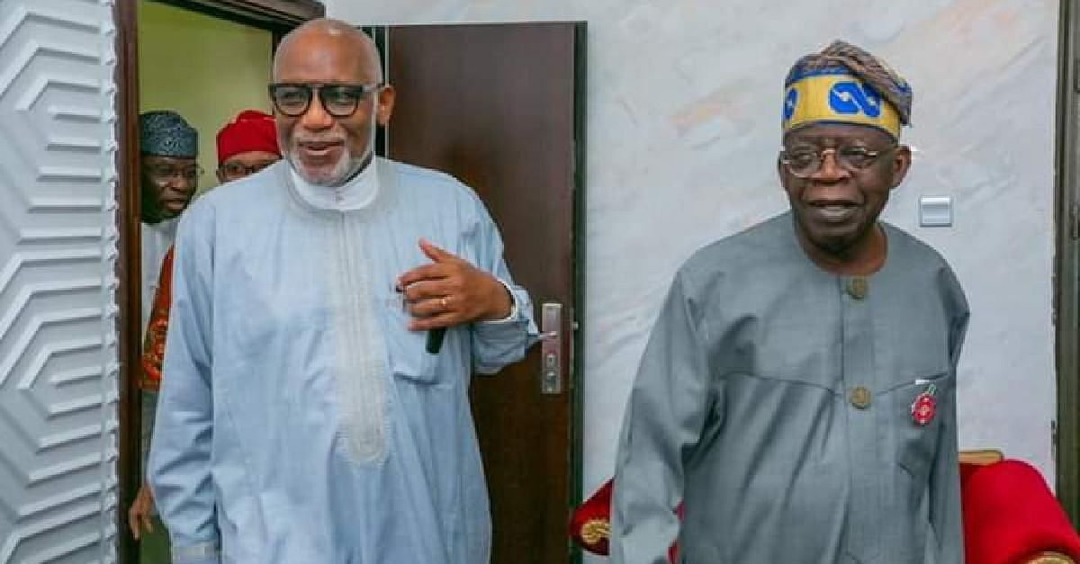 Ill Health Rumour: Akeredolu Steps Out With Tinubu