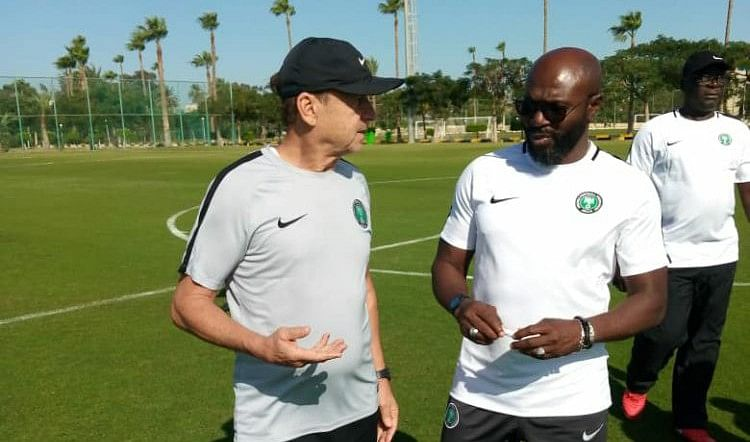 Rohr Teases Nigeria's U-23 Players With Super Eagles Call-Up