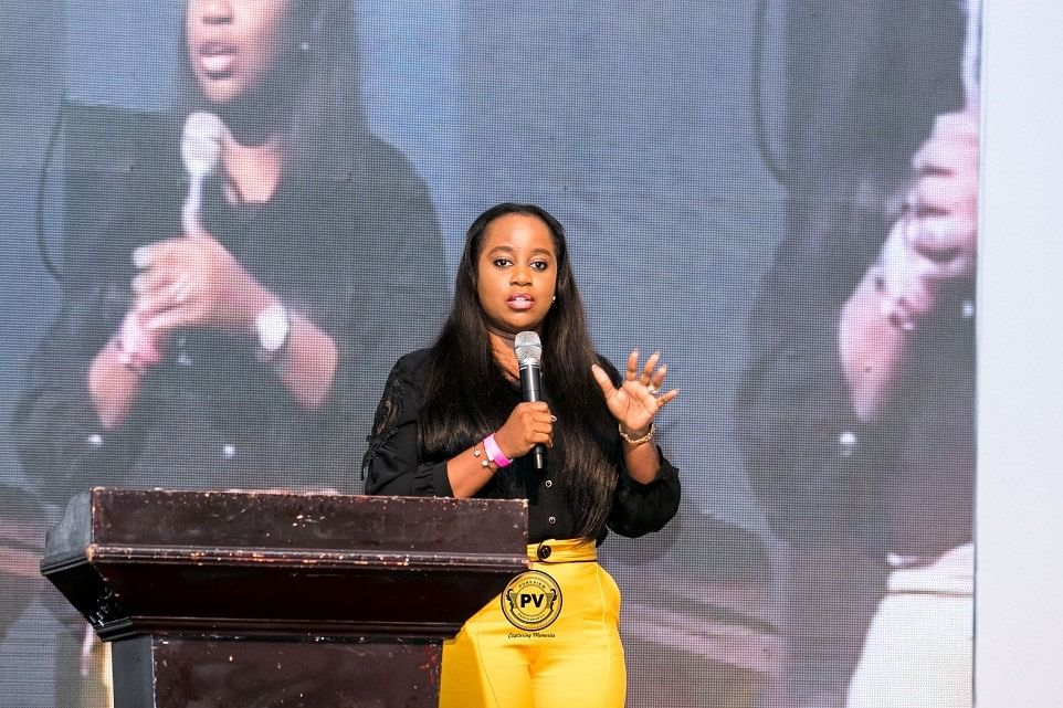 "Ivie Temitayo-Ibitoye, during her presentation on ""The Power of Sustaining your Workforce"""