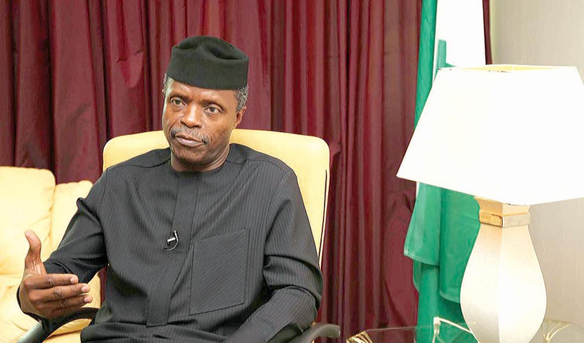 Yemi Osinbajo Lays Foundation For  Ogun Railway Wagon Plant