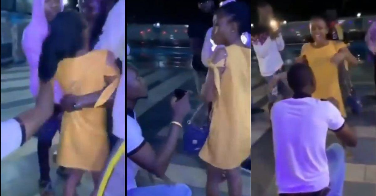 Man Proposes To Girlfriend In The Middle Of A 'Planned' Fight With His Friend