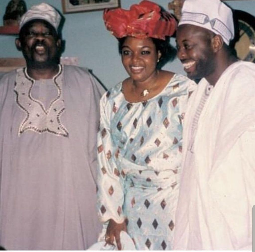 The couple with MKO Abiola (late)