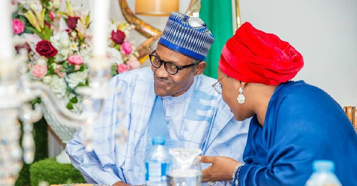 First Lady Celebrates President Buhari As He Turns 77