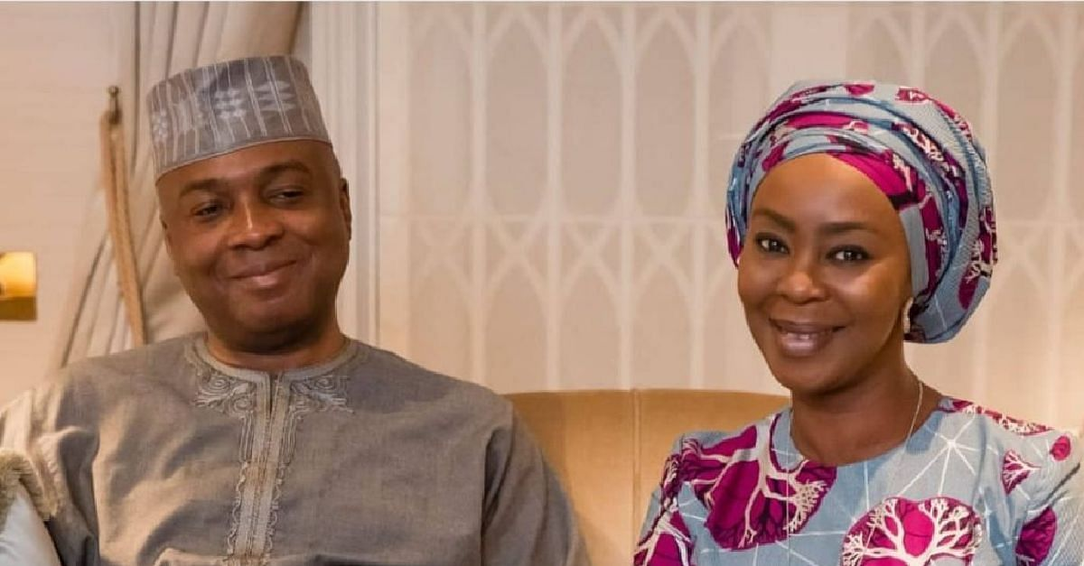 Bukola Saraki and wife, Toyin