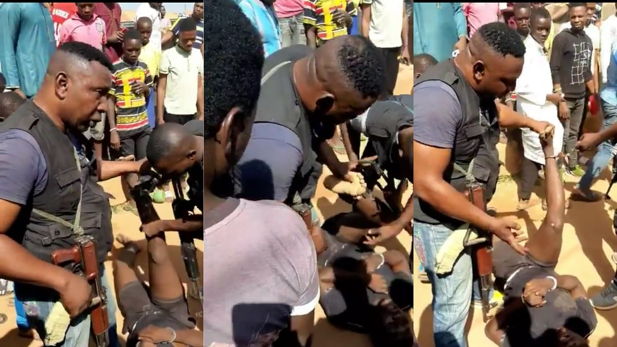 Video: Watch The Inhuman Treatment Of A Suspect By SARS In  Ilorin