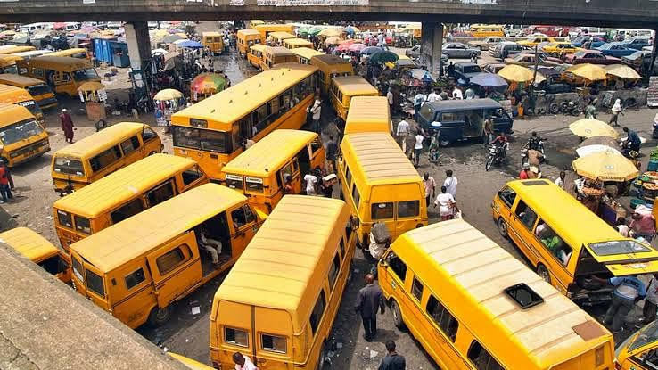 Yellow Lagos buses