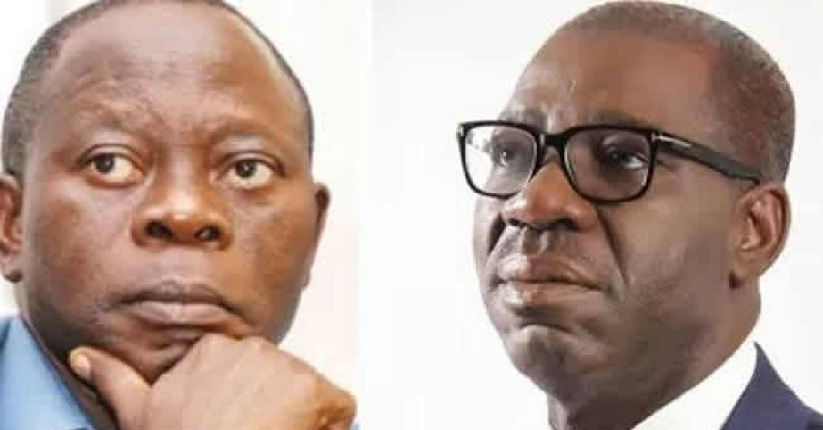Adams Oshiomhole and Godwin Obaseki