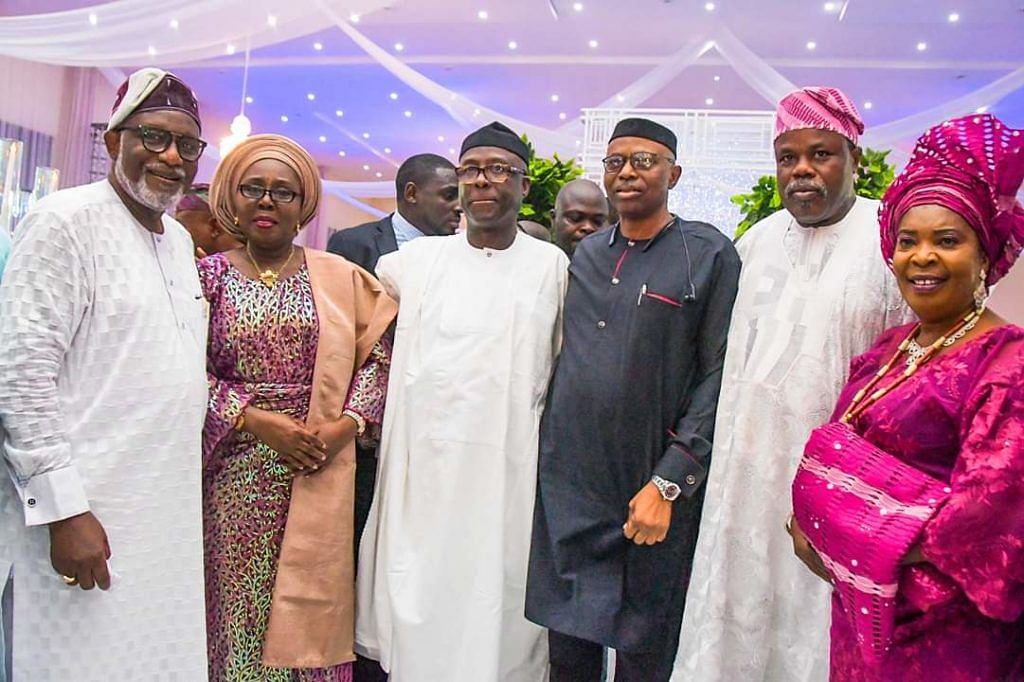 Akeredolu, wife, Mimiko and other guests