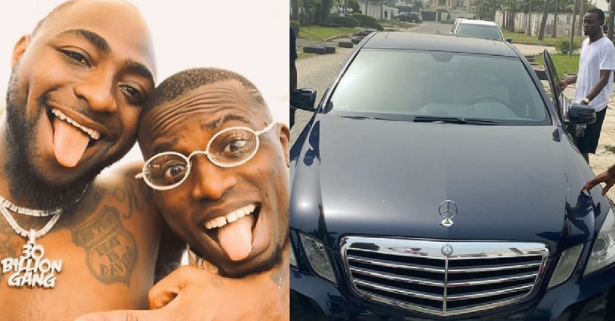 Davido's PA, Aloma, Shows Off His Brand New Benz (Photo)