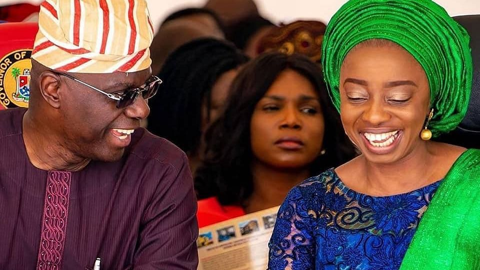 Sanwo-Olu and wife, Ibijoke