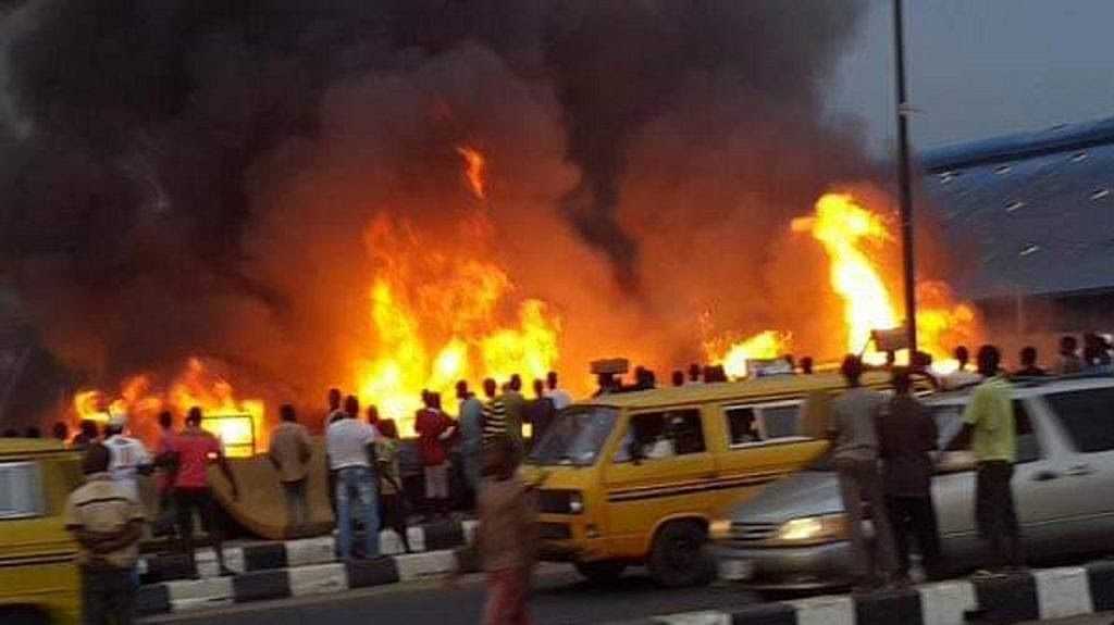 Massive Fire Outbreak In Abule Egba