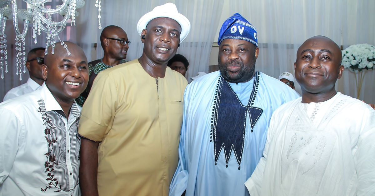 Dele Momodu, celebrant and other guests