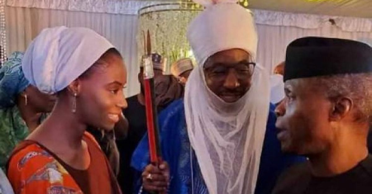 Emir Sanusi and Khadijat with Osinbajo