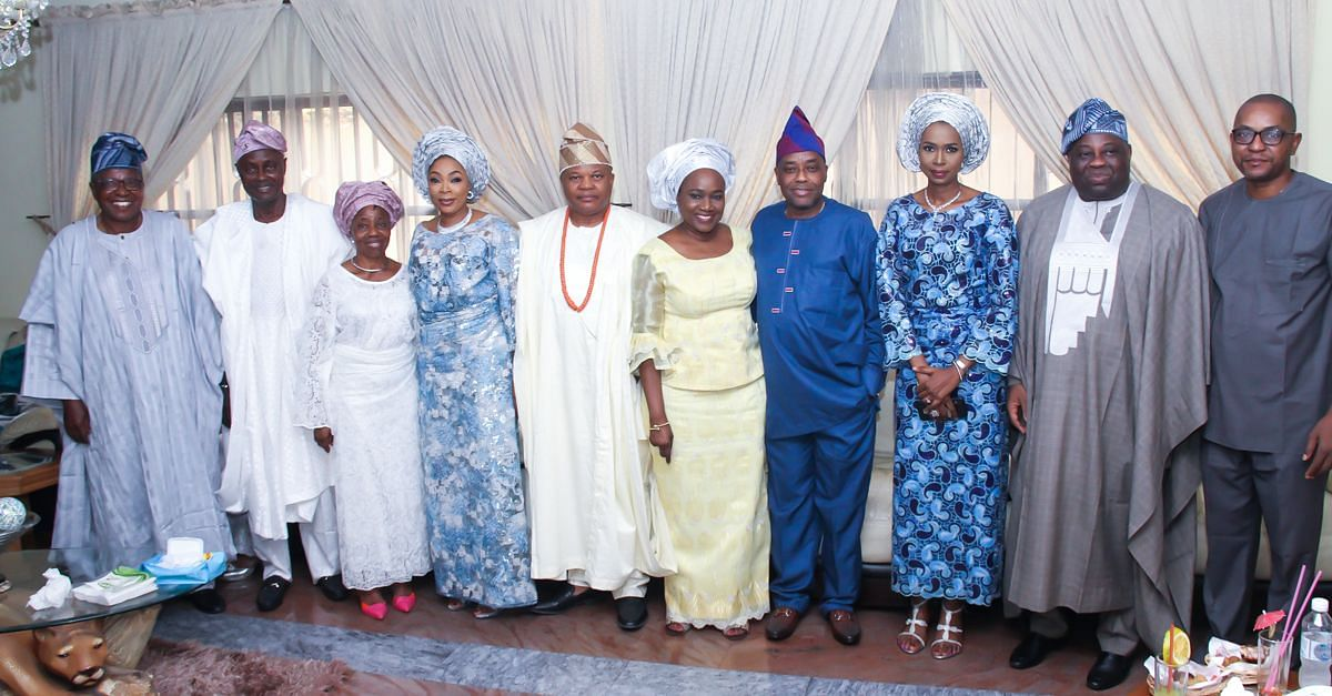 Governor Okowa, couple and the parents