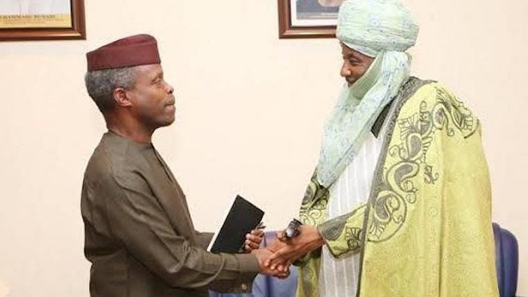 Osinbajo and Governor Abdullahi Ganduje