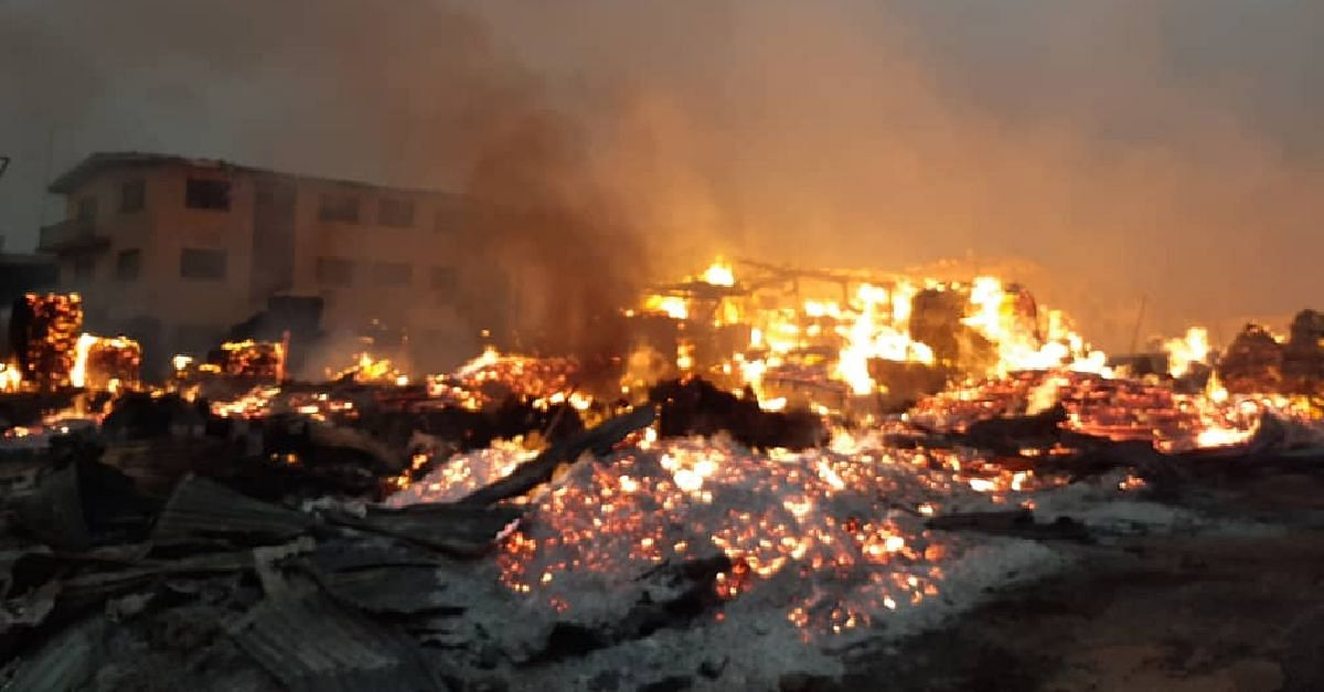 Fire Razes Mushin Timber Market, LASEMA Responds