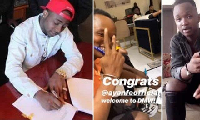 Davido Signs New Artiste, Ayanfe, To DMW (Photos)
