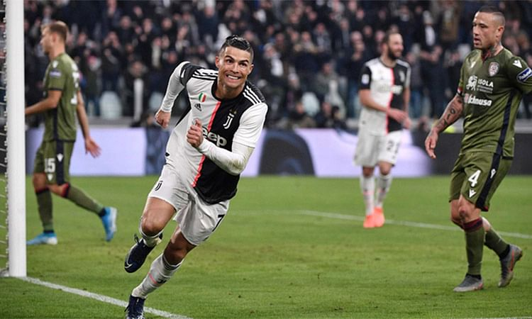 Ronaldo Scores A Hat Trick As Juve Thump Cagliari 4-0