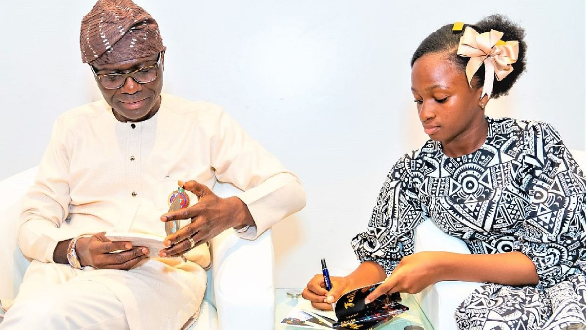 12-Year-Old Writer Unveils New Book With Sanwo-Olu In Attendance