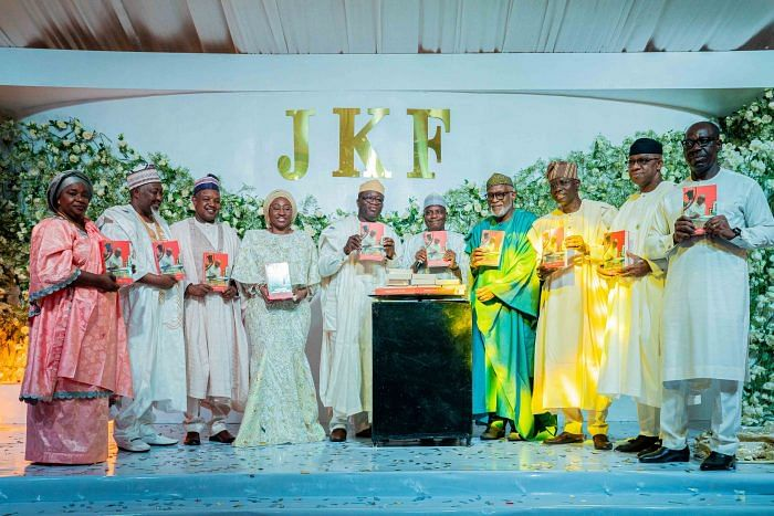 Fayemi, wife, and other governors at the birthday ceremony