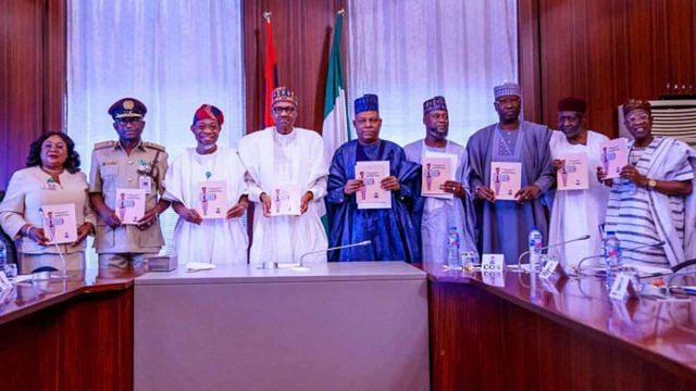 The official launch of the Nigeria Visa Policy 2020 at the State House, Abuja …