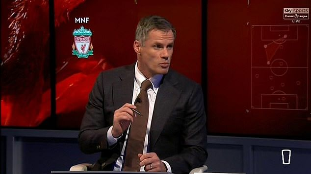 Jamie Carragher during an interview with Skysports