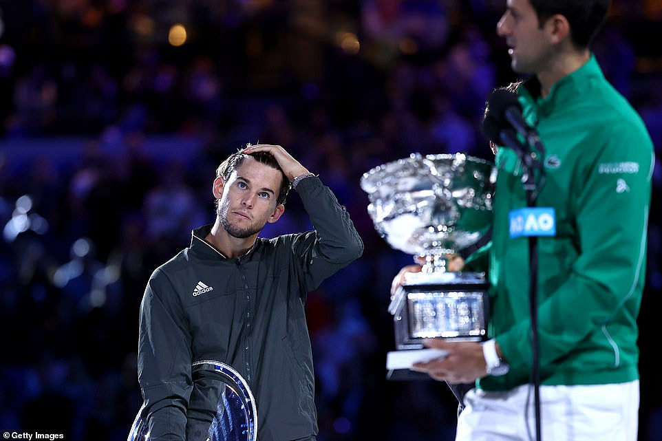 Djokovic With His Trophy