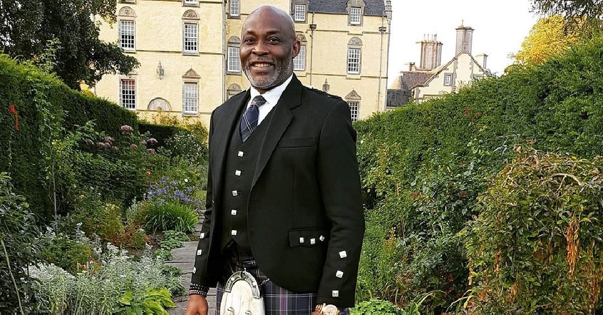 Richard Mofe-Damijo Rocked The Gilt Like A True Scot In This Photo