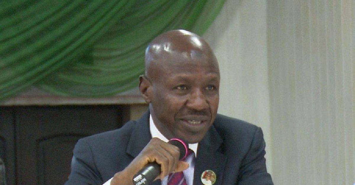 Twitter Users Blast EFCC's Magu Over Coronavirus Comments