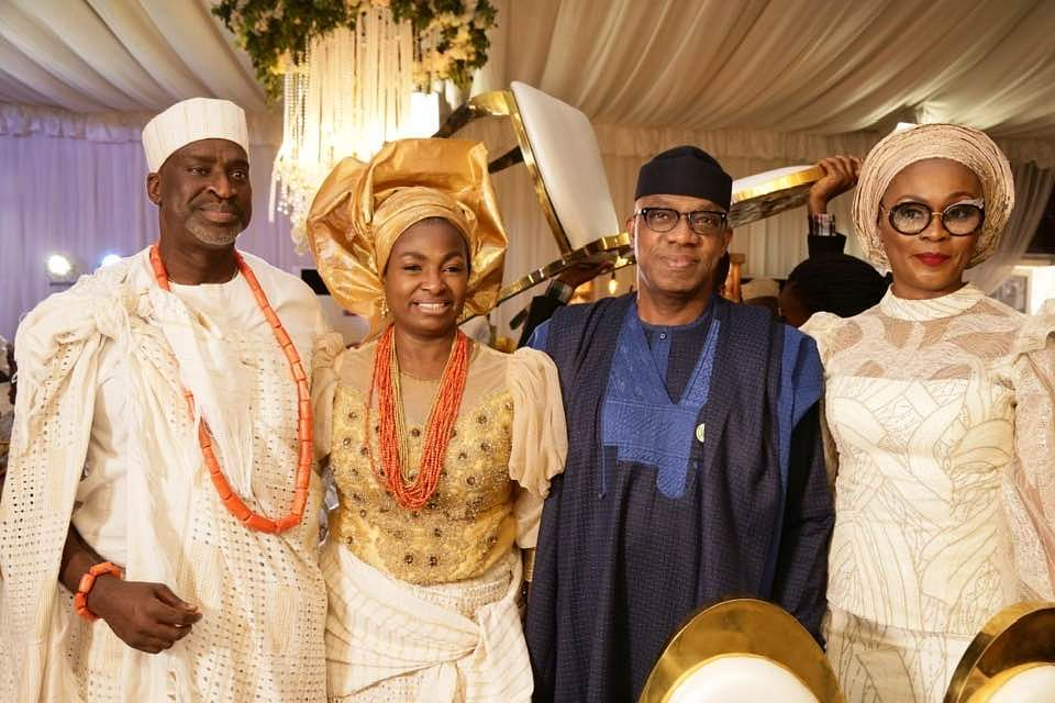 Governor Dapo Abiodun and the bride's father