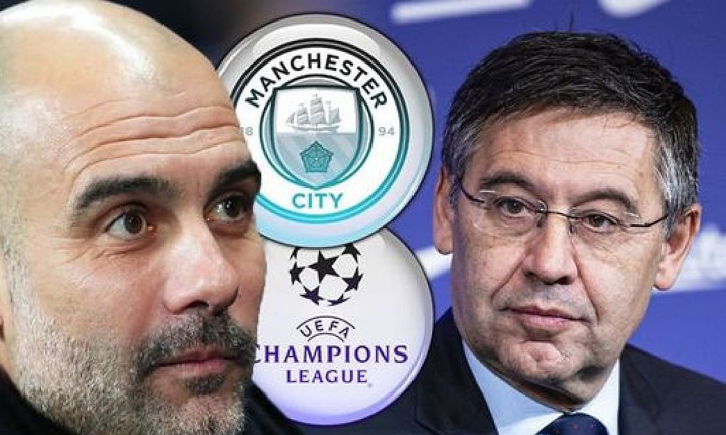 Pep Guardiola Lashes Out At Barcelona President Over UCL Ban